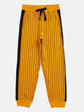 Yellow/Black Kids Boy Color Block Jogger