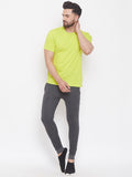 Anthramelange/Black Mid - Rise Slim Fit Joggers With Color Block