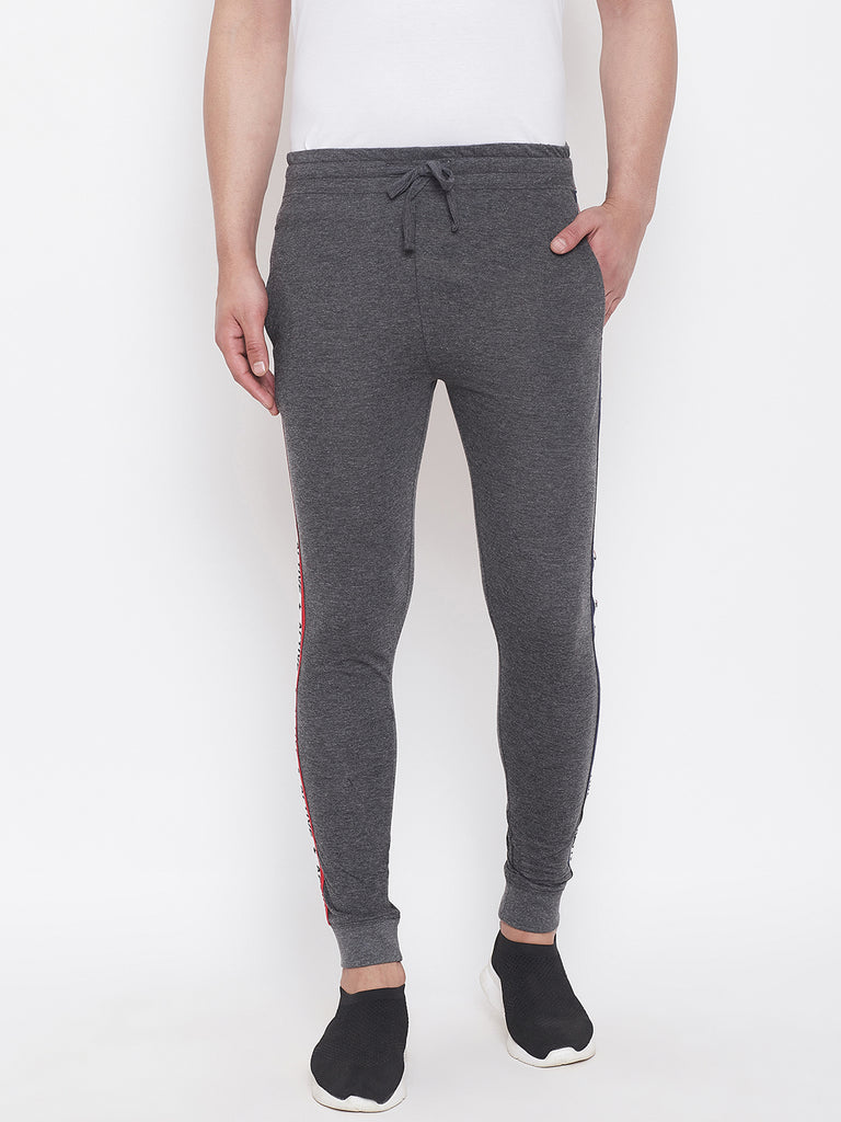 Anthramelange Slim Fit Joggers With Side Taping