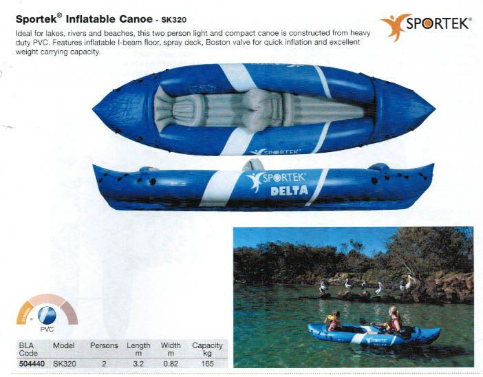 Sportek SK320 with 2 Paddles reduced by $200!!!