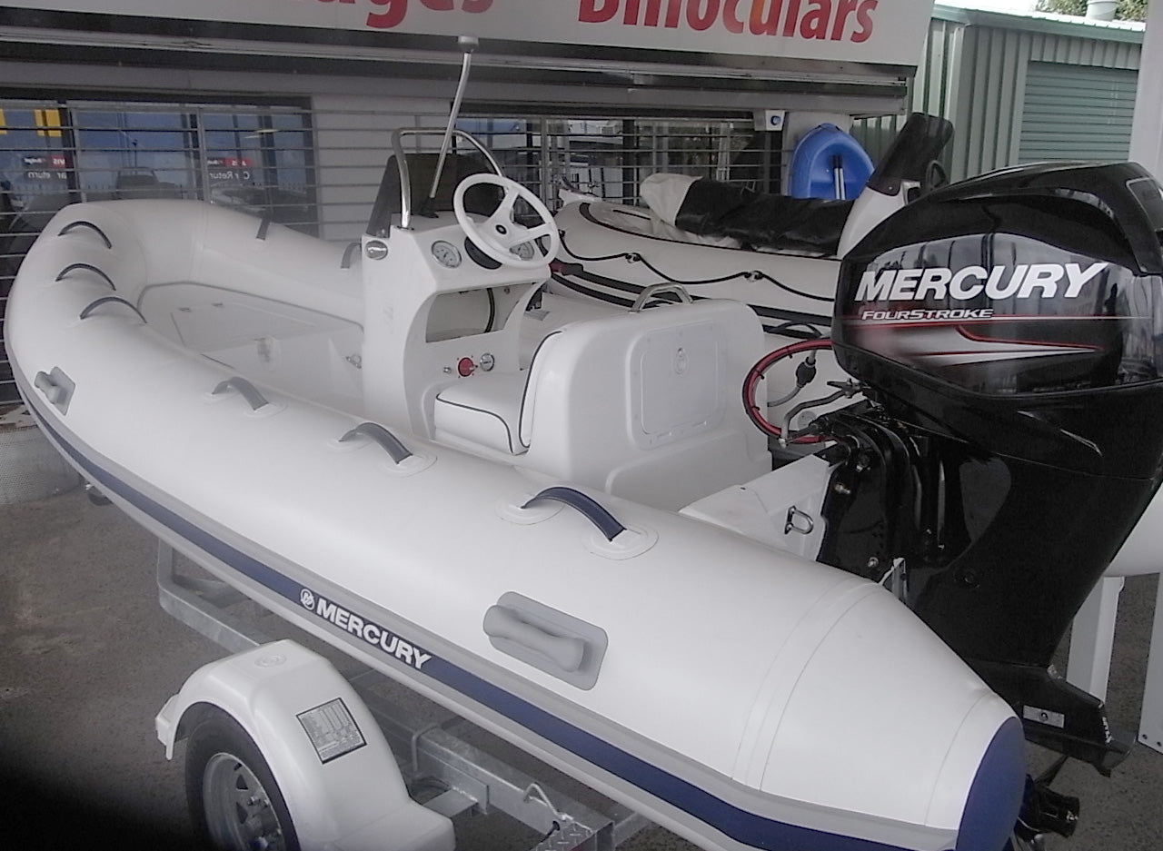Mercury 420 Ocean Runner Side Console RIB package - waves-overseas