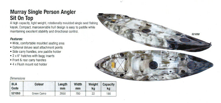 Kruze Murray Angler kayak - waves-overseas