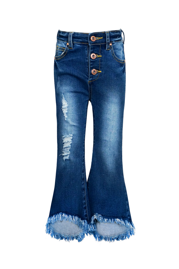 Girls Flared Bottom Jeans
