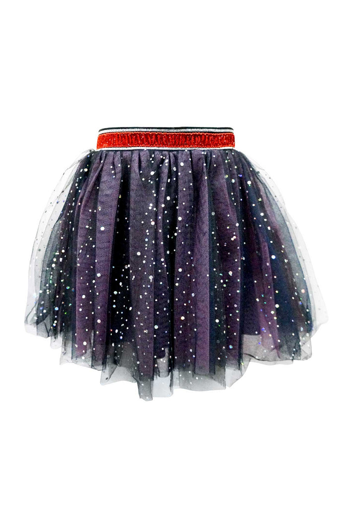 Girls Starry Holographic Dots Tutu Skirt