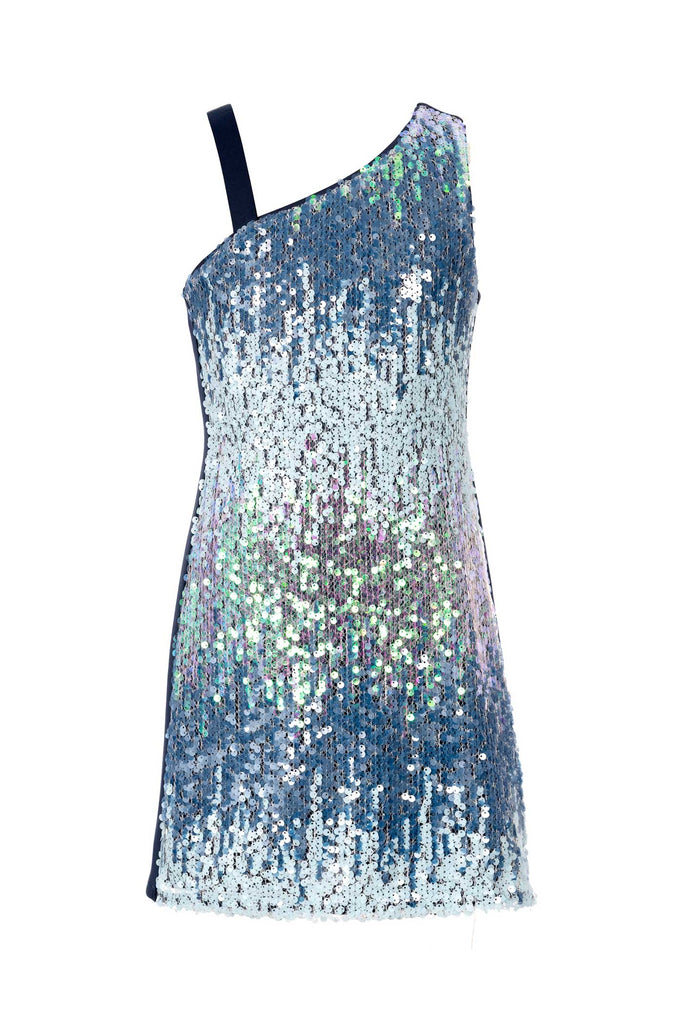 Big Girls One Shoulder Sequin Party Dress