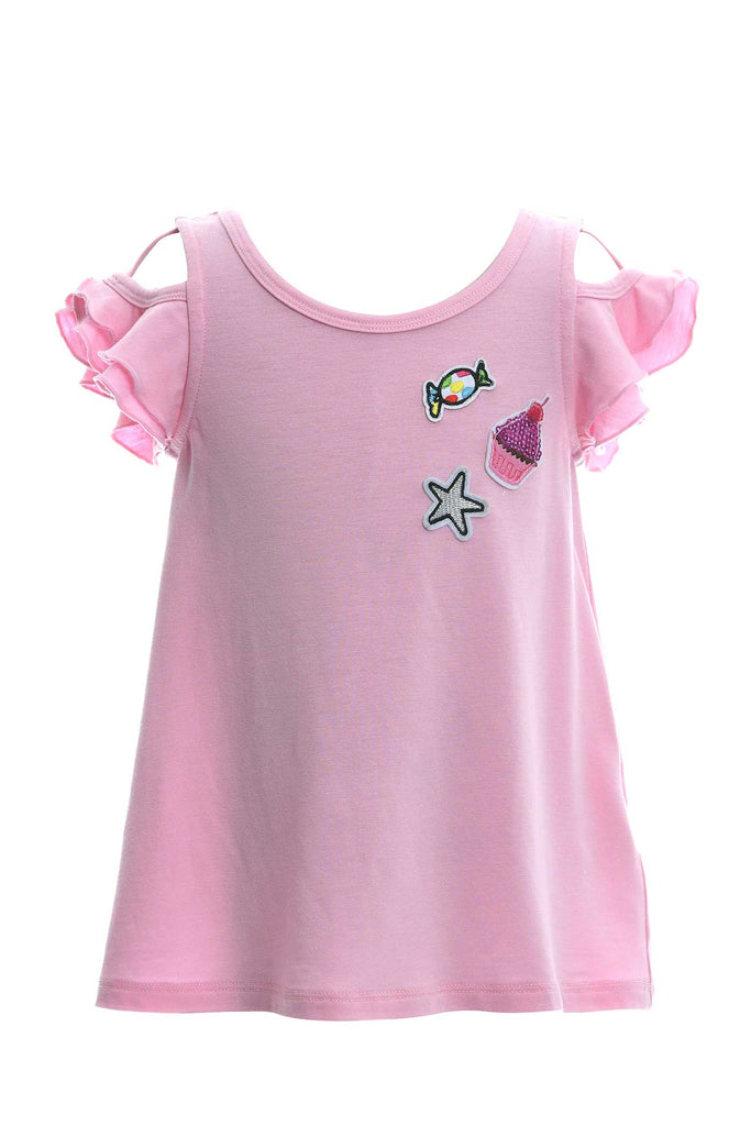 Toddler Girls Little Girls Ruffle Tunic Top