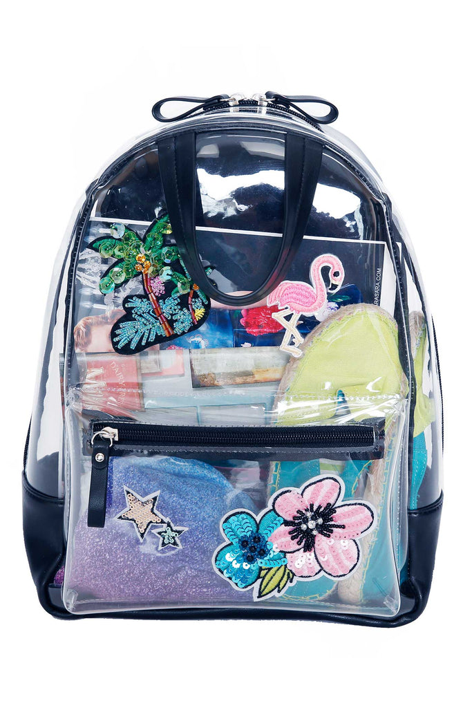 Girls Clear Vinyl Backpack