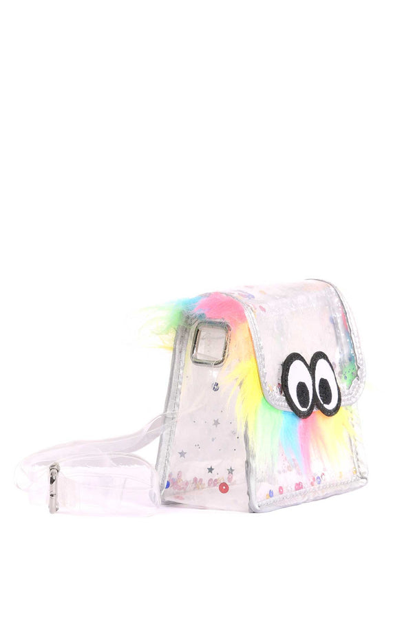 Girls Little Monster Clear Crossbody Bag