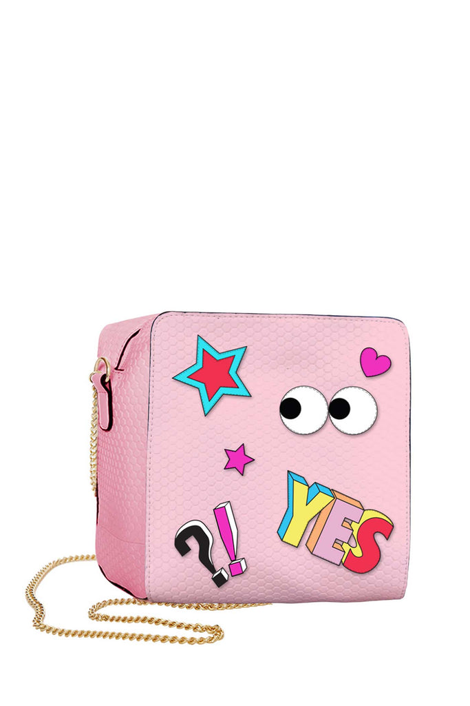 Girls Pink Cartoon Crossbody bag