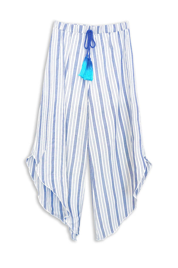 Big Girls Striped Asymmetrical Flowy Culottes