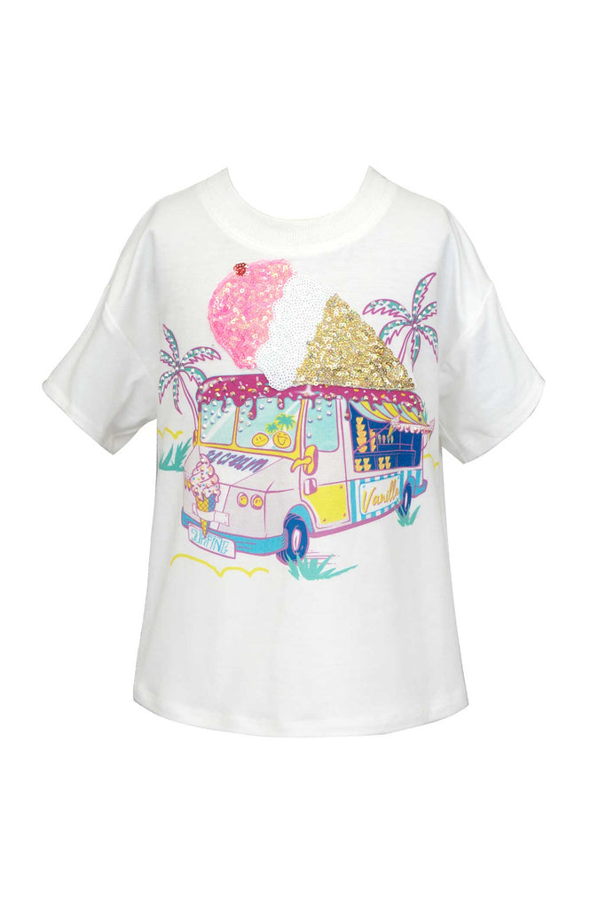 Little Girls | Big Girls Ice Cream Truck Graphic T-shirt