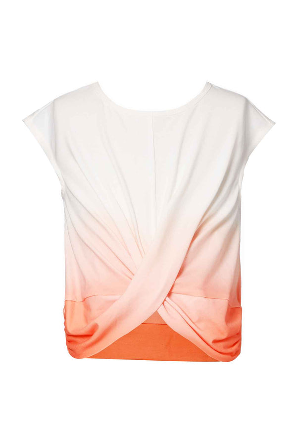 Hannah Banana Girls Twisted Front Gradient Top