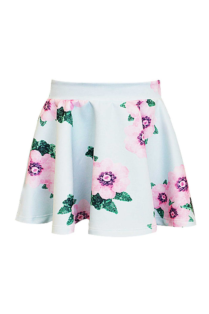 Hannah Banana Toddler Girls Floral Print Skater Skirt