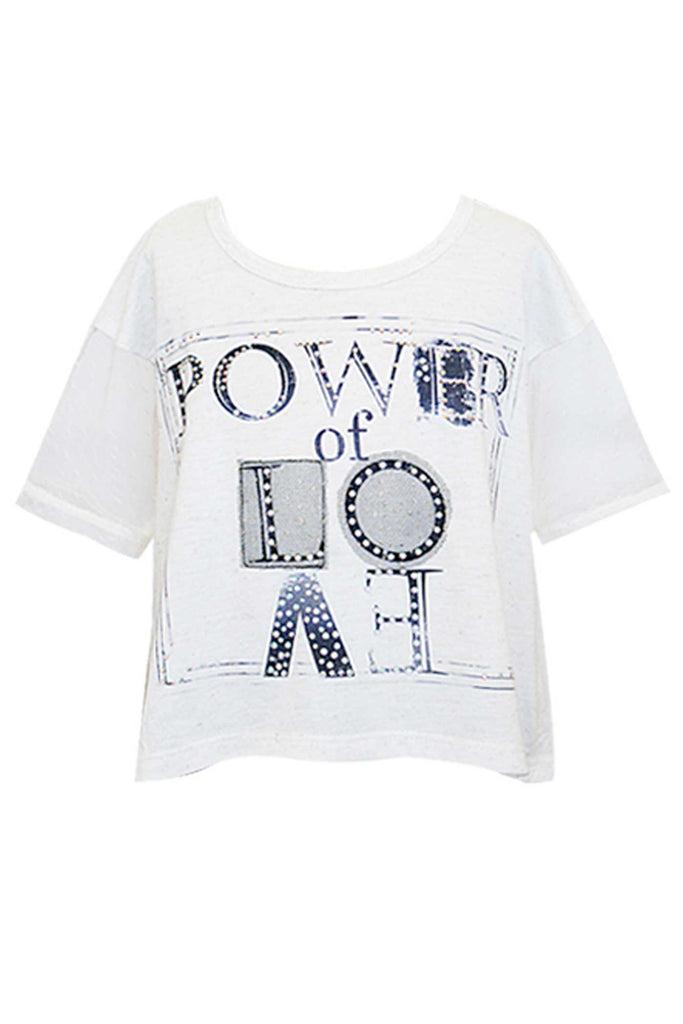 Girls Power of Love Short Sleeve Graphic T-shirt