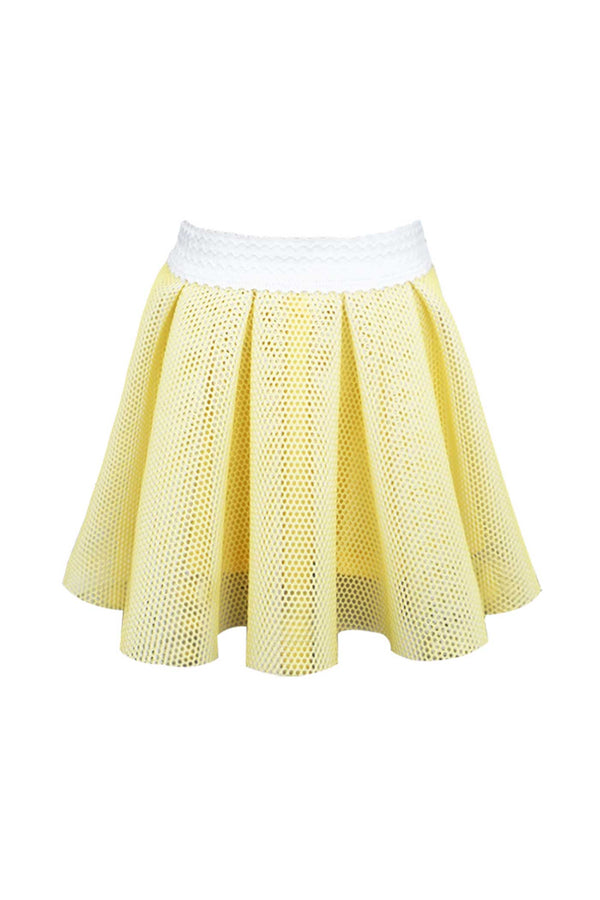 Hanna Banana Little Girls Scuba Mesh Skater Skirt