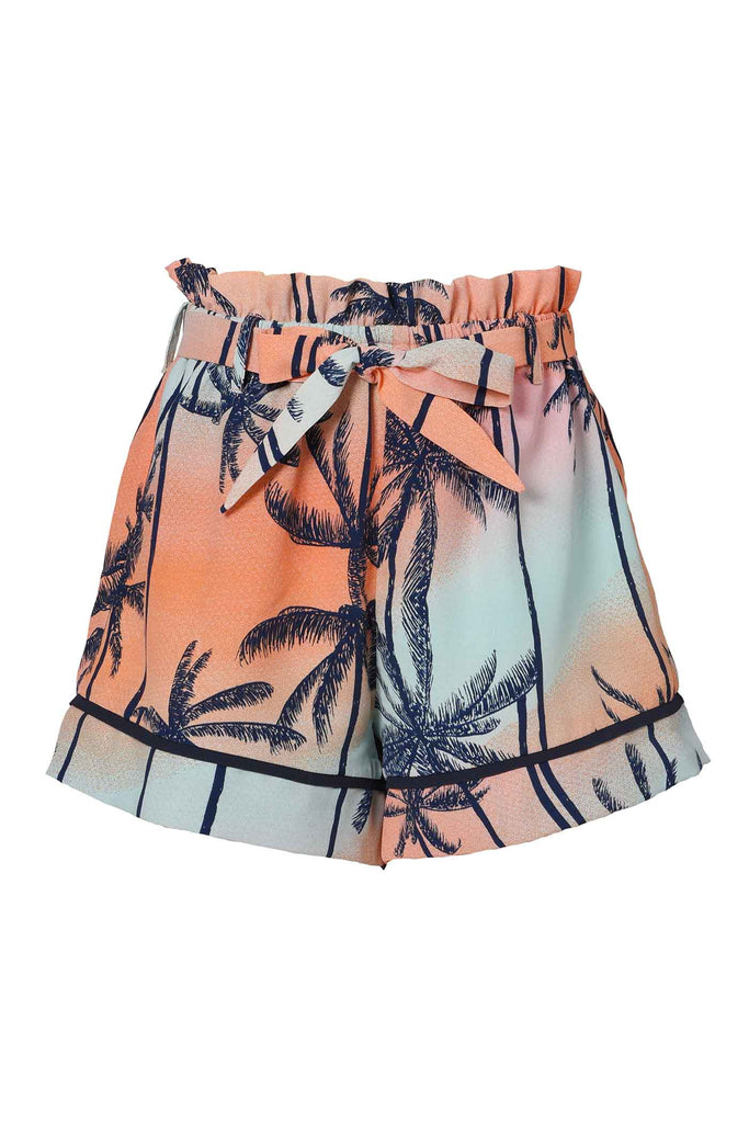 Hannah Banana Girls Palm Tree and Sunset PJ Style Shorts