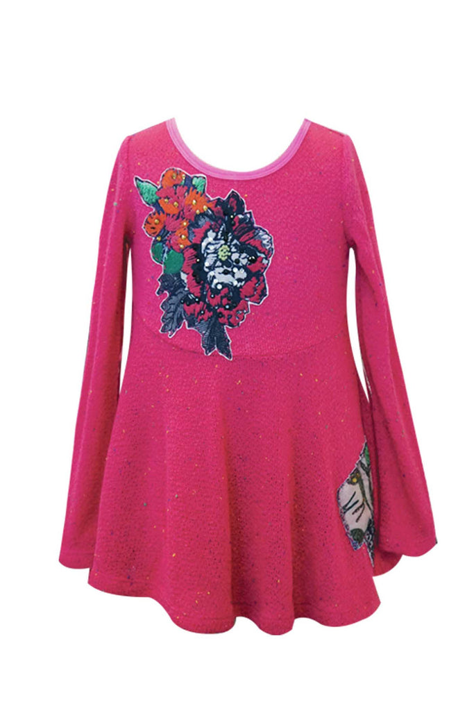 Hannah Banana Little Girls Long Sleeve Knit Tunic Top