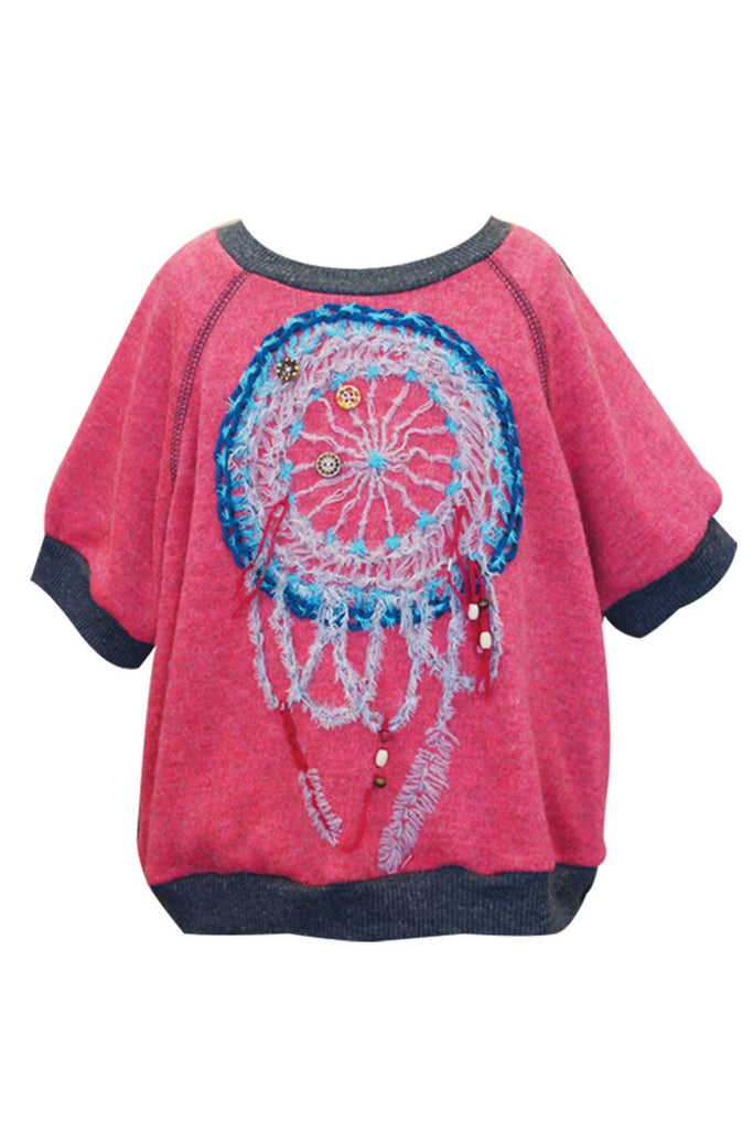 Hannah Banana Little Girls Dream Catcher Short Sleeve Top