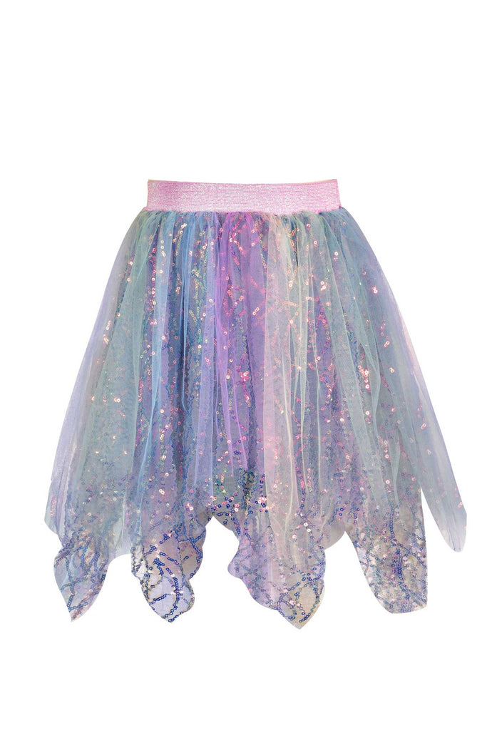 Little Girls Magical Sequin Hanky Hem Tutu Skirt