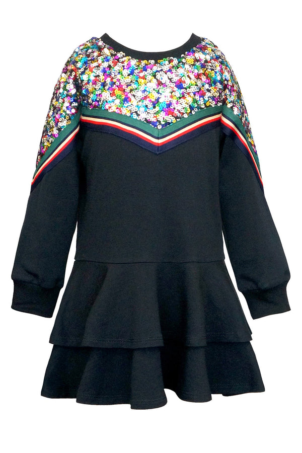 Hannah Banana Girls Dropped Waist Sweatshirt Dress
