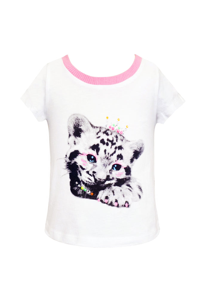 Baby Sara Baby Girls Tiger Cub Graphic Tee
