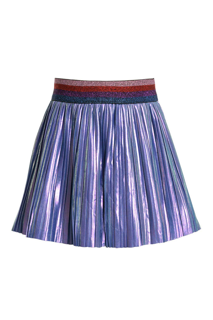 Baby Sara Little Girls Holographic Pleated Skirt