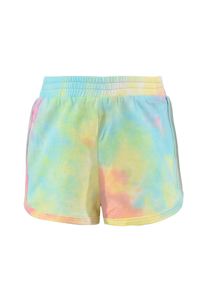 Baby Sara Little Girls Colorful Tie Dye Shorts