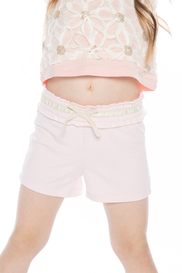Baby Sara Baby Girl Pink French Terry Shorts