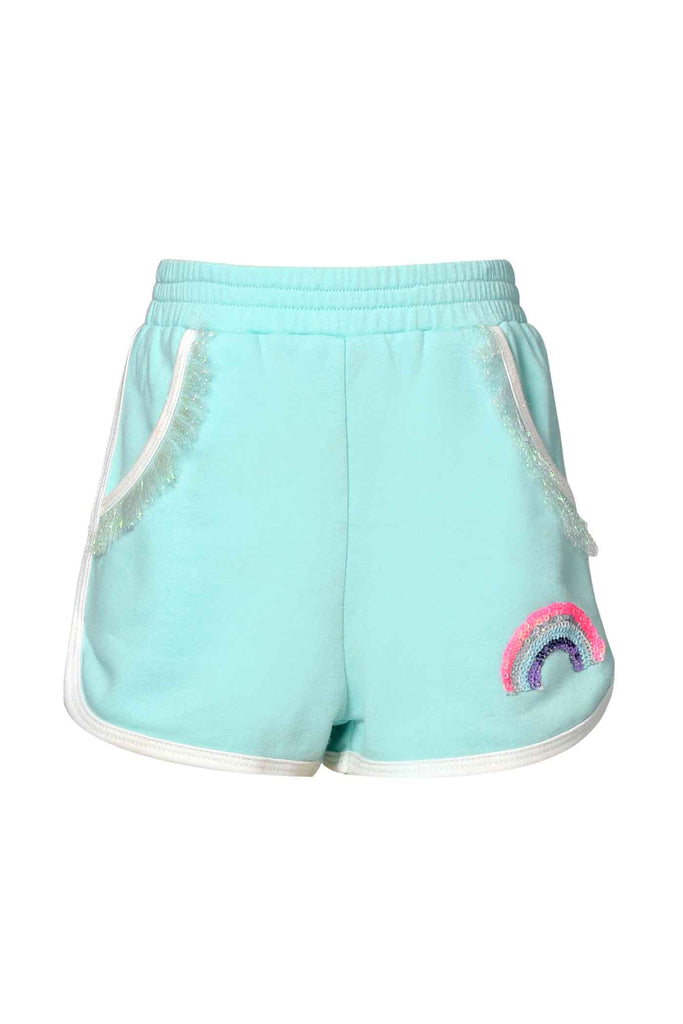 Baby Sara Little Girls Rainbow Patch Dolphin Shorts