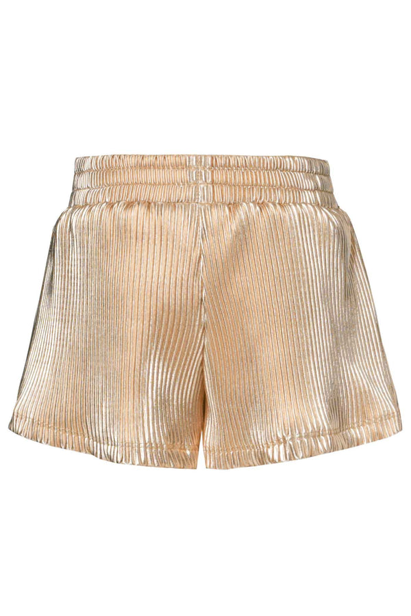 Baby Sara Little Girls Metallic Faux Wrap Daisy Shorts