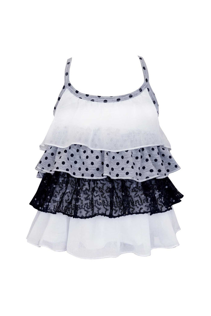 Baby Sara Little Girls Ruffle Tiered Cami Top