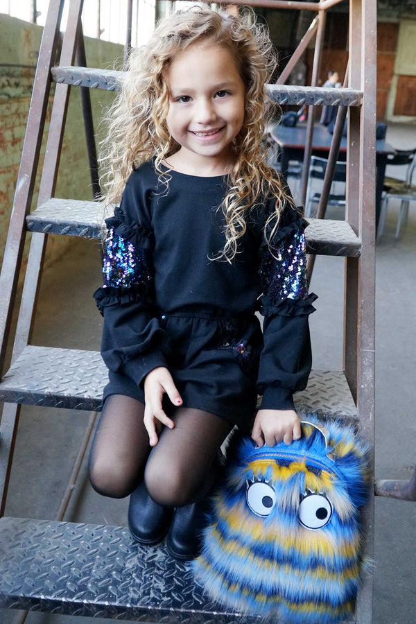 Hannah Banana Cute Fur Monster Backpack