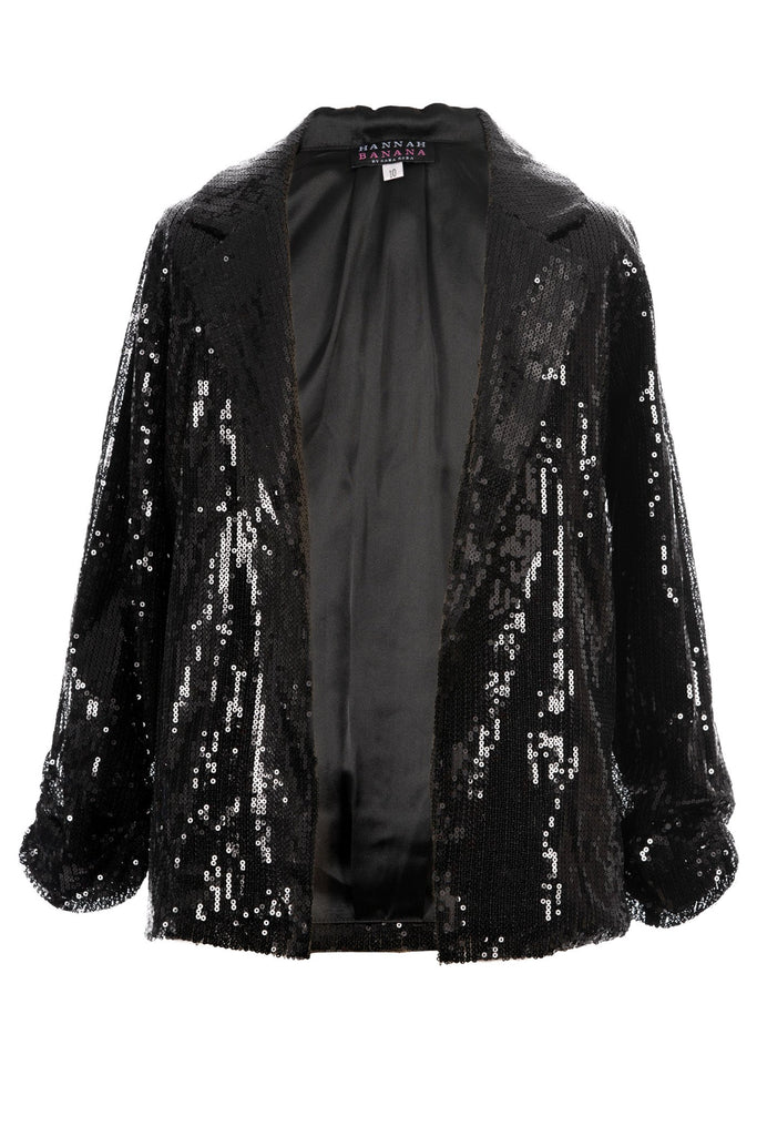 Hannah Banana Big Girls 3/4 Sleeve Sequin Jacket