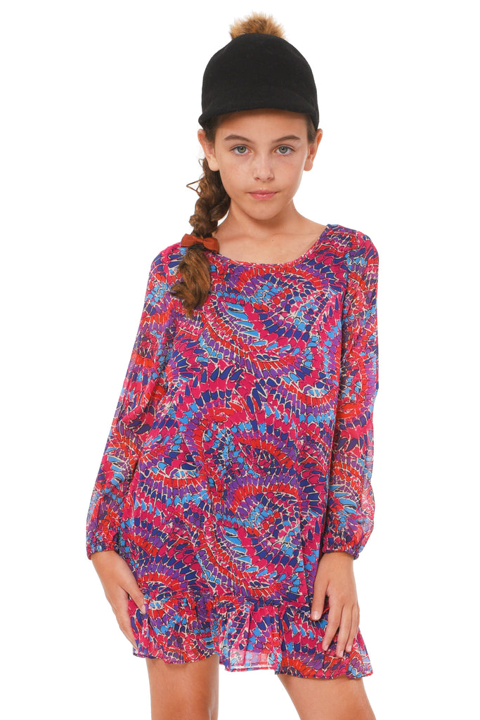 Truly Me Big Girls Geo Print A-Line Dress
