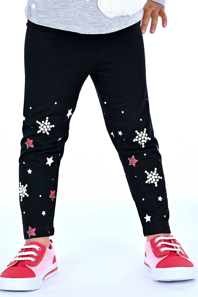 Truly Me Little Girls Pearl Star Leggings