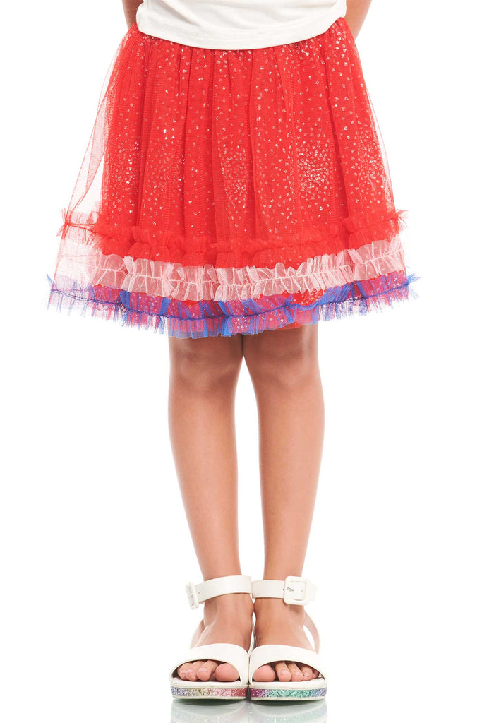 Truly Me Little Girls Red Blue and White 4th of July Tutu Skirt