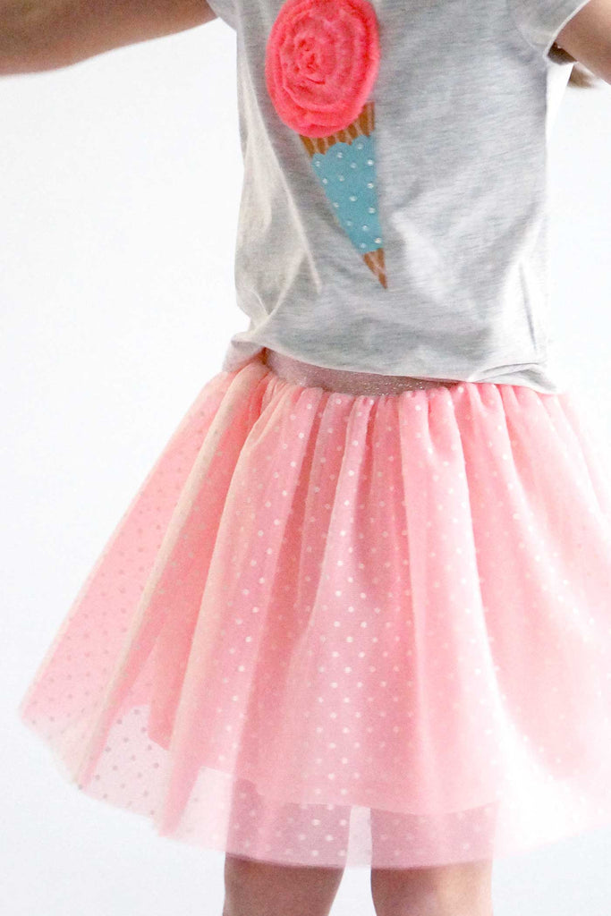 Truly Me Little Girls Polka Dots Tutu Skirt