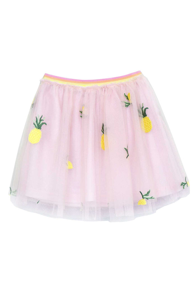 Truly Me Little Girls Pineapple Embroidered Tutu Skirt