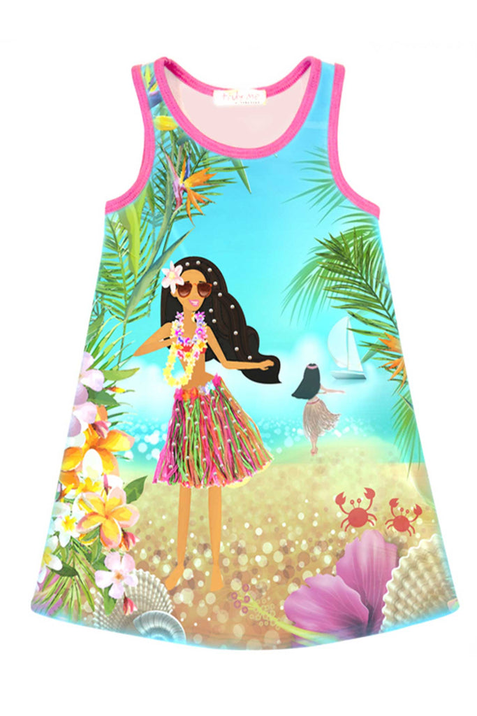 Truly Me Toddler Girls Hula Dance Girl Tank Dress