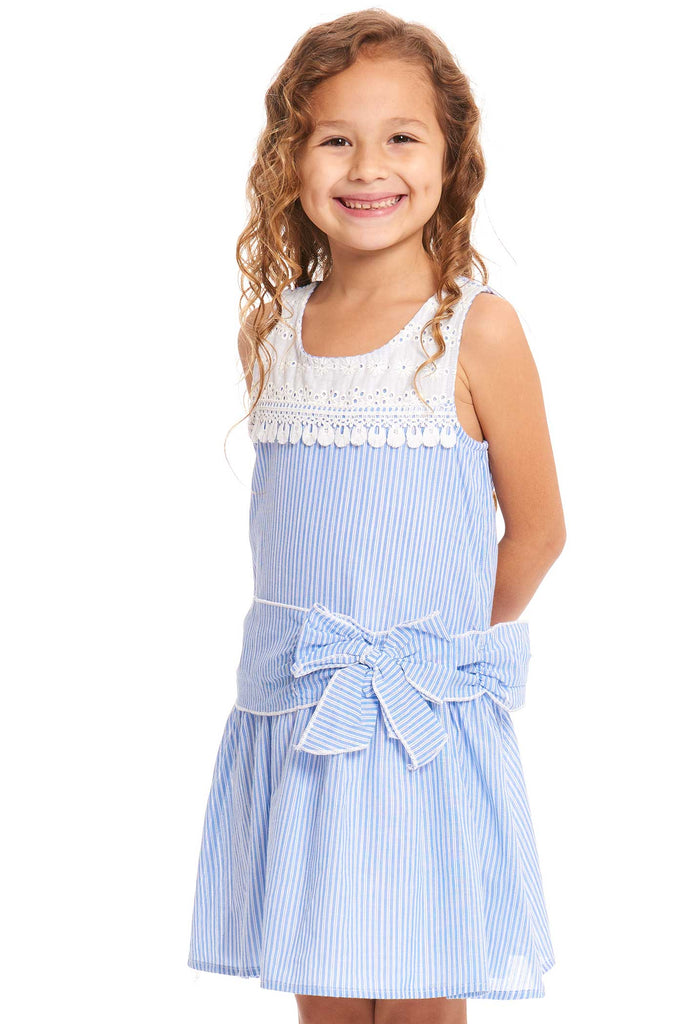 Truly Me Toddler Girls Sleeveless Striped Sundress
