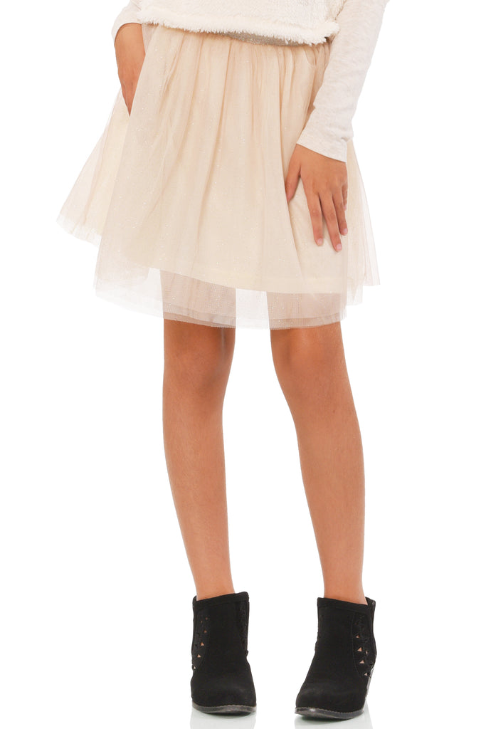 Girls Gold Shimmer Tutu Skirt