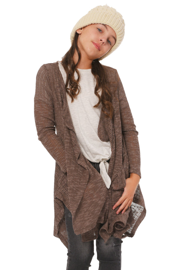 Big Girls Big Girls Lightweight Waterfall Cardigan