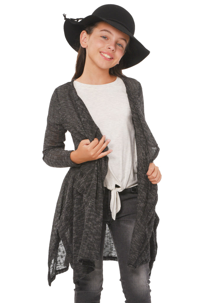 Truly Me Big Girls Lightweight Waterfall Cardigan