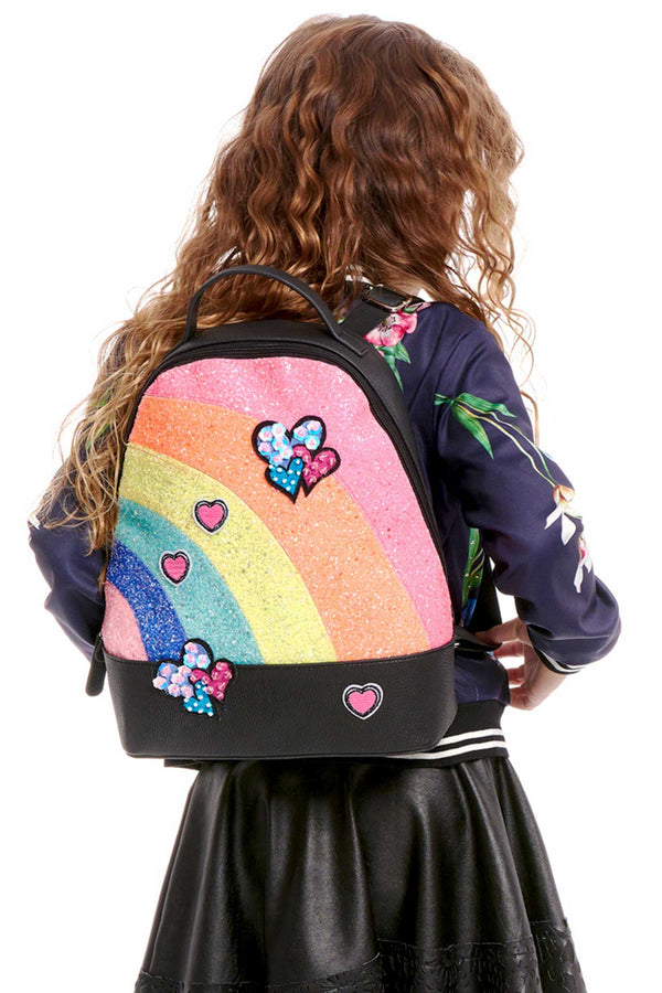 Hannah Banana Girls Glitter Rainbow Backpack