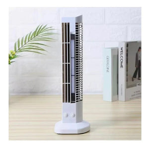 Mini Ventilador Vertical Torre Usb + Abajur Led De Mesa Pc