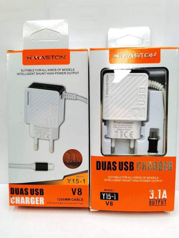 Carregador H'maston 2usb V8