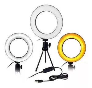 Ring Light Tripé Mesa Iluminador Youtuber Maquiagem