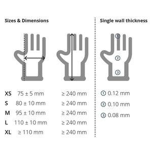 Latex Gloves Gloves Powder Free - Box 100