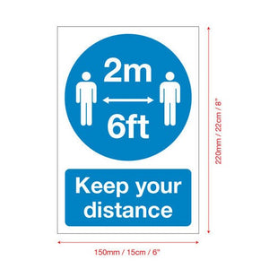 A5 COVID-19 Self Adhesive Sign