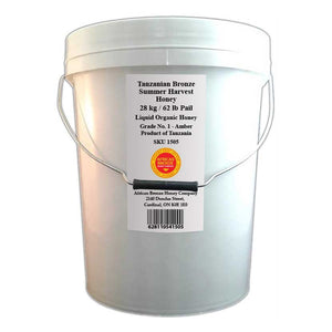 Tanzanian Bronze Honey - Summer Harvest - Bulk 62 lb Pail / 28 kg